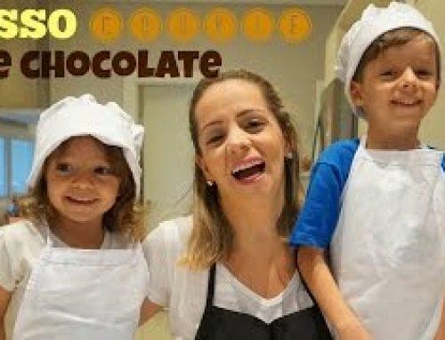 COOKIES COM CHOCOLATE – Na cozinha com Enzo e Nina